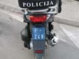 Police motorcycle plate from the former Republic<br>of Serbia and Montenegro. P = Police