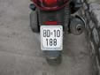 Motorcycle plate (old style) from the former Republic<br>of Serbia and Montenegro. BD = Budva