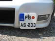Normal plate (alternative style). PG = Podgorica