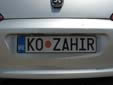 Personalized plate. KO = Kotor