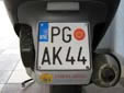 Motorcycle plate. PG = Podgorica