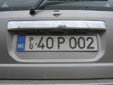 Foreign press agency's plate. P = Press. PG = Podgorica