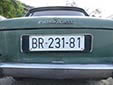Normal plate (old style, 1961 series) from the former<br>Republic of Yugoslavia. BR = Bar