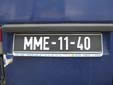 Normal plate. First M = Mozambique. Second M = Maputo
