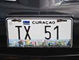 Taxi plate. TX = taxi<br>Submitted by George von Gabain from The Netherlands