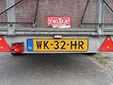 Trailer plate. W = trailer (more than 750 kg)