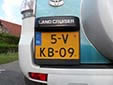 Light commercial vehicle's plate<br>V = commercial vehicle up to 3.5 tons