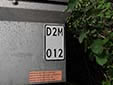 Moped trailer plate<br>The registration number is always identical to the pulling vehicle's number