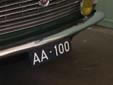 Old style plate for vehicles registered to members of the Dutch royal family (AA)<br>Submitted by Menno from the Netherlands