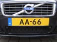 Plate for vehicles registered to members of the Dutch royal family (AA)