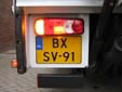 Heavy commercial vehicle's plate<br>B = commercial vehicle over 3.5 tons