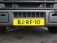 Heavy commercial vehicle's plate (unofficial and illegal style<br>without euroband). B = commercial vehicle over 3.5 tons
