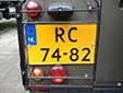 Military plate. RC = Région Centrale (Allied Joint Force Command in Brunssum)<br>Submitted by George Gabain from the Netherlands
