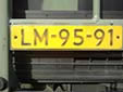 Military plate (old style). LM = Luchtmacht (Air Force)<br>Submitted by George Gabain from the Netherlands