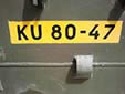 Military plate (old style). KU = Koninklijke Landmacht (Royal Army)<br>Submitted by George Gabain from the Netherlands