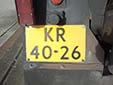 Military plate (old style). KR = Koninklijke Landmacht (Royal Army)<br>Submitted by George Gabain from the Netherlands