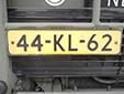 Military plate (old style). KL = Koninklijke Landmacht (Royal Army)<br>Submitted by George Gabain from the Netherlands