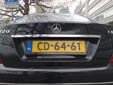 Diplomatic plate. CD = Corps Diplomatique / Diplomatic Corps<br>CD-##-## = embassies & consulates