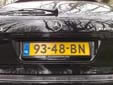 Plate for foreign residents. BN (+ four numerals) = Buitenlander<br>in Nederland (foreigner in the Netherlands)