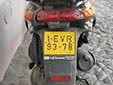 Moped plate (old style). EVR = Évora