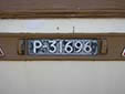 Trailer plate (old style). P = Porto