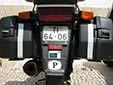 Motorcycle plate. Notice that Portugal is the only (EU) country without country indication on motorcycle plates.
