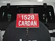 Dealer / trade plate. CARDAN = the dealer's name.<br>Every dealer has plates with a number and company name on it.