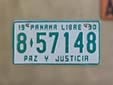 Normal plate (1990 series). 8 = Panamá Province