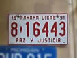 Normal plate (1991 series). 8 = Panamá Province