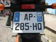 Motorcycle plate. 974 = Réunion