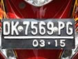 Motorcycle plate. DK = Bali<br>Submitted by George von Gabain from the Netherlands