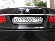 Normal plate. 199 = Москва (Moscow)<br>Fancy combinations are available for an additional fee.