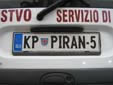 Personalized plate (old style). KP = Koper