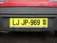 Export plate; valid until June 2010. LJ = Ljubljana