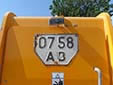 Agricultural and construction vehicle's plate