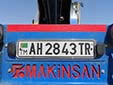 Trailer plate. AH = Ahal province. TR = trailer