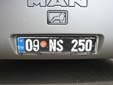 Official vehicle's plate. 09 = Aydın