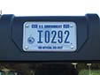 Governmental plate (small size). I = Department of the Interior<br>(detailed view of the previous picture)