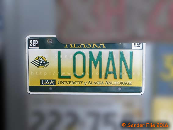 Uroplates license plates north america united states for Department of motor vehicles anchorage alaska
