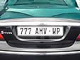Personalized plate. WP = Western Cape province