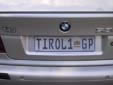 Personalized plate. GP = Gauteng province<br>Submitted by Ralf Hegewald from Germany